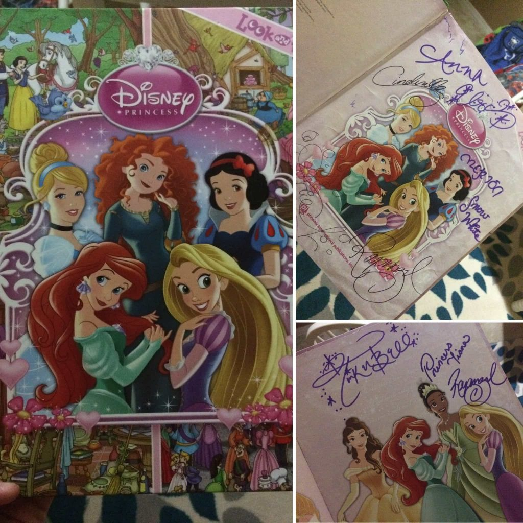 This Disney Princess Look and Find Book was the best way to collect Disney Princess Autographs at Disney World!