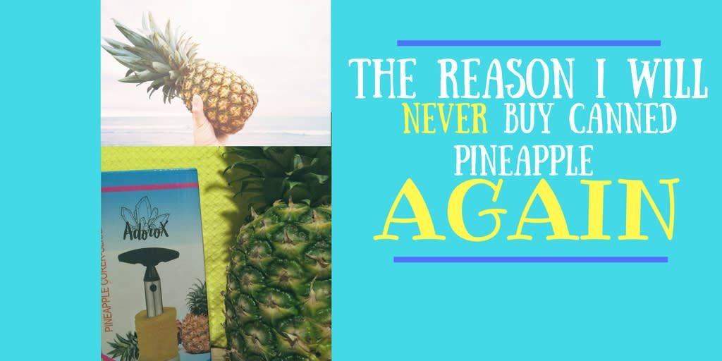 How To Cut A Pineapple In Less Than 30 Seconds!
