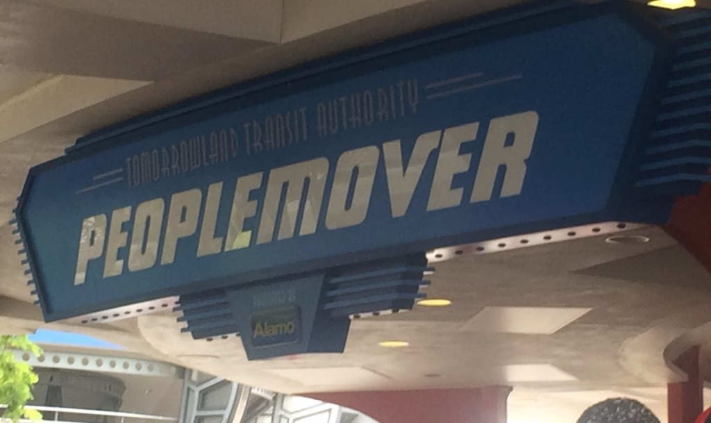 The Tomorrowland Peoplemover in the Magic Kingdom is a great way to escape the hot sun while still...moving.