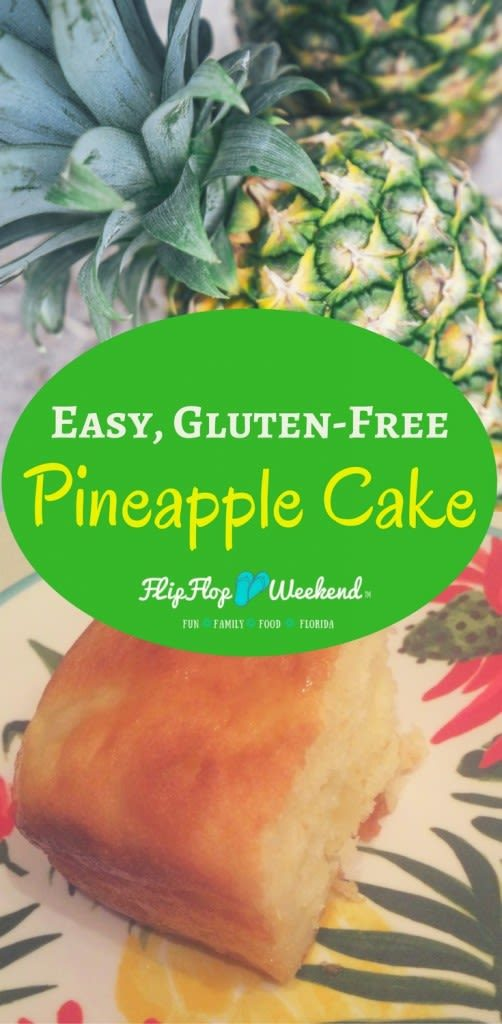 This gluten-free pineapple dessert uses a boxed cake mix to make a rich, dense tropical cake in a snap!