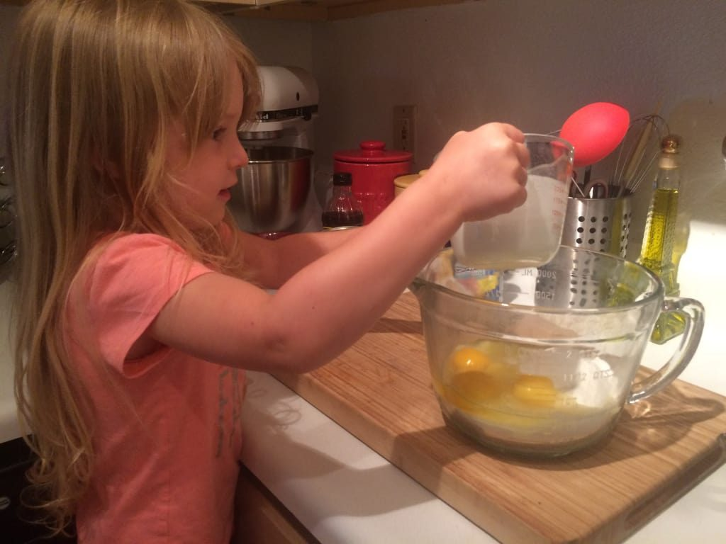 Little hands love helping in the kitchen. It is important to engage them and teach them a love of cooking and helping
