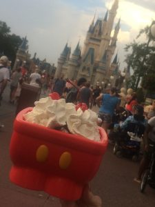 A kitchen sink full of Edy's ice cream is a great way to beat the heat at Walt Disney World