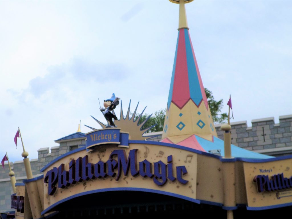 The weather at Disney World changes frequently. On rainy or hot days, Philharmagic is a great way to be inside while still experiencing Disney magic.