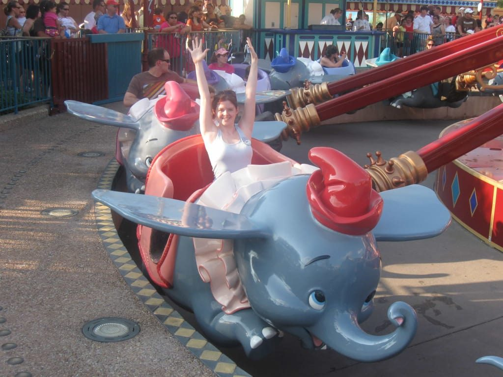 The Dumbo ride at Walt Disney World Resort- fun for kids and adults