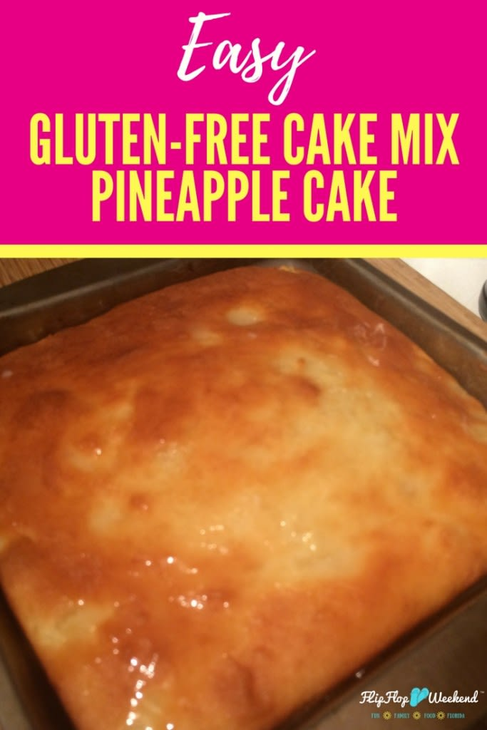 This gluten-free pineapple cake is super simple, using a cake mix as its base. It packs a punch with tropical flavor and won't take forever to make!