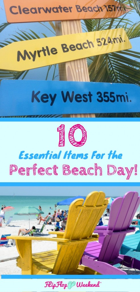 These ten beach items are necessities to make your beach day stress-free!