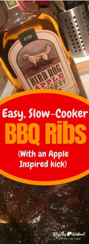 If you are looking for a quick and easy, slow-cooker recipe that your family will love, check out these BBQ ribs with an apple kick!