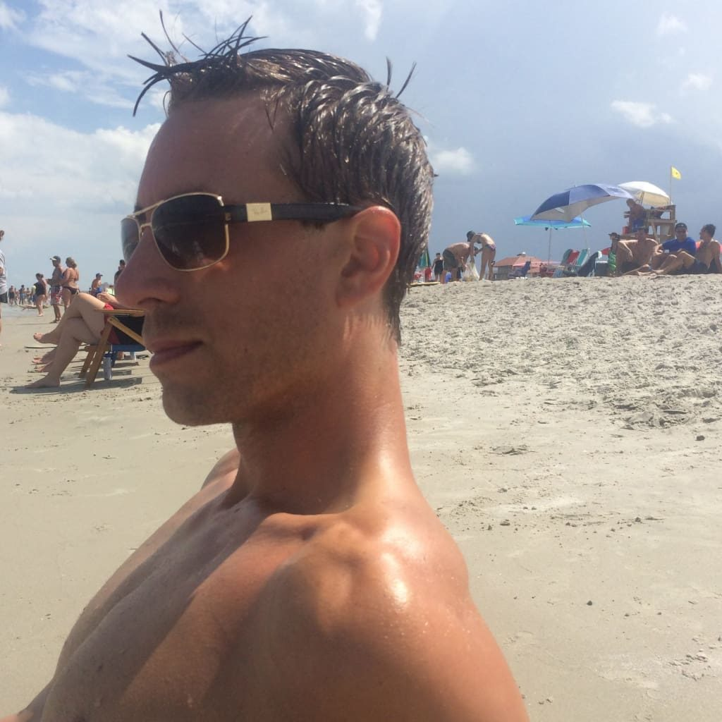 Sunglasses are a must on beach day! My husband loves these Ray-Bans