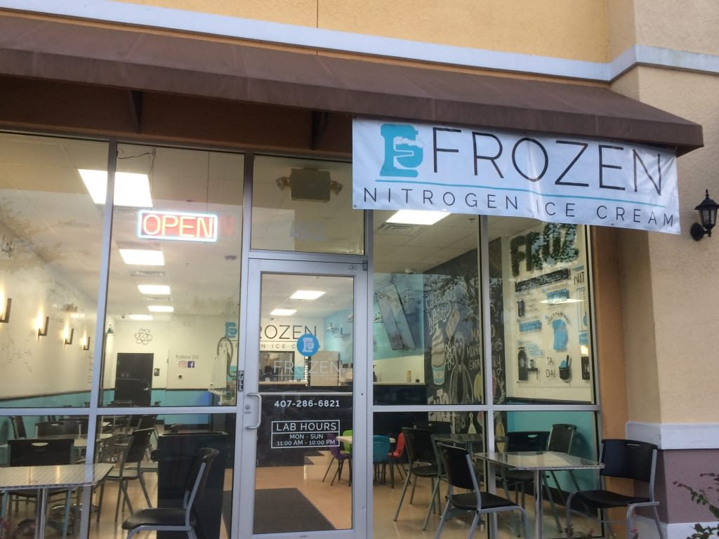The Frozen Nitrogen ice cream parlor near UCF uses science to make the creamiest ice cream ever!