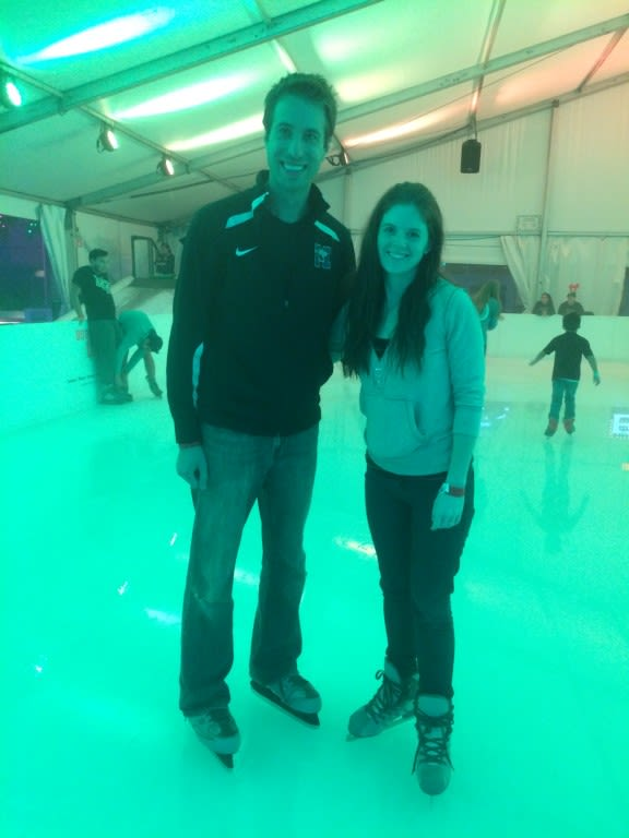 It's a Christmas miracle that he went ice skating with me