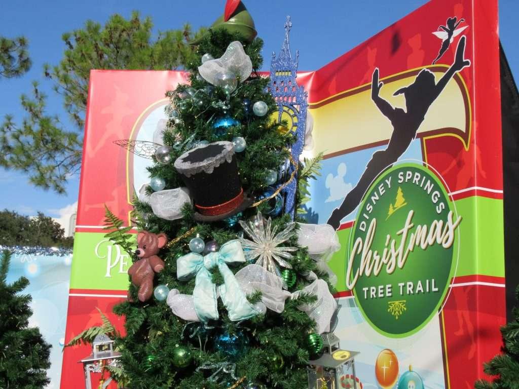 Disney Springs Christmas Tree Trail -Peter Pan Tree