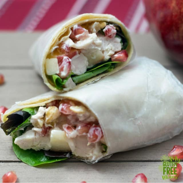 This turkey salad with apple and pomegranate would make a perfect lunchbox lunch when you finally have to head back to work after Thanksgiving.