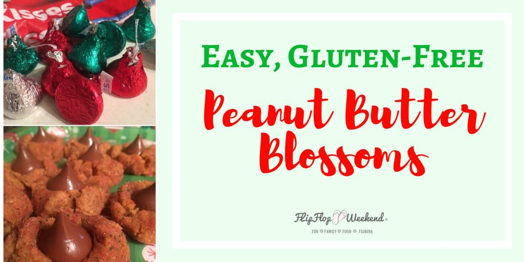 This easy recipe for gluten-free peanut butter blossoms will satisfy your Christmas cookie craving...just save some for Santa.