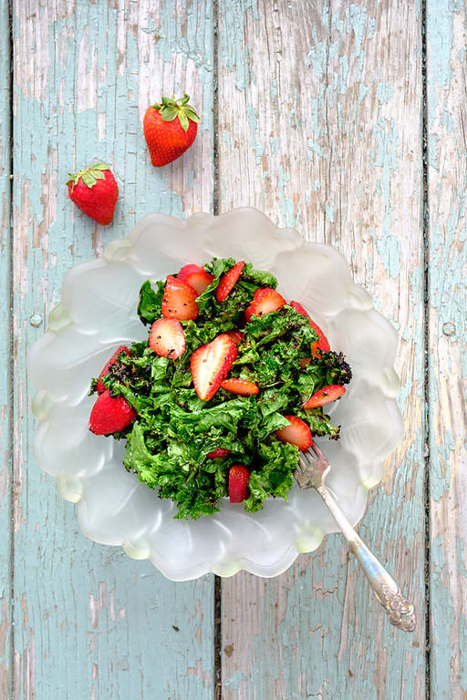 This post features multiple ways to use your fresh strawberries as a main course...not just as a dessert!