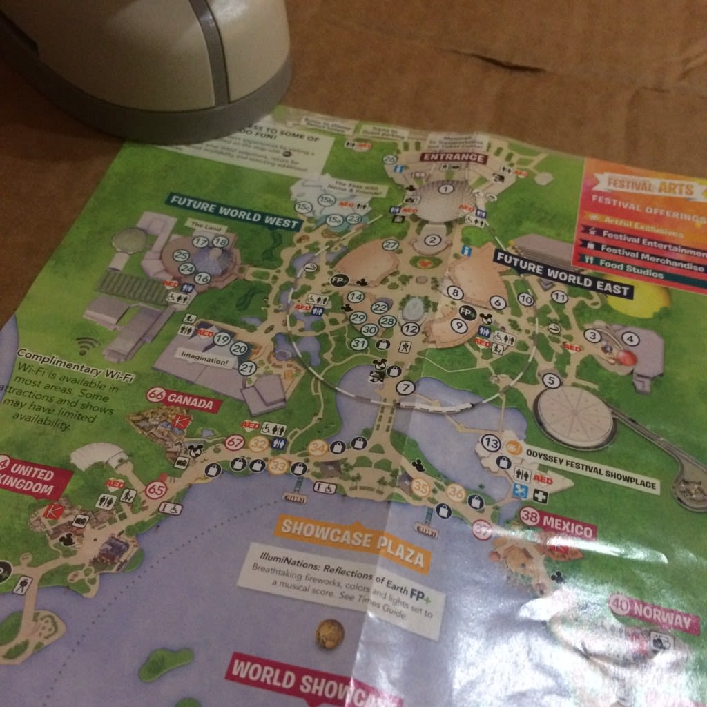 This easy DIY craft is a great way to repurpose and reuse your Disney Park maps long after your Disney vacation