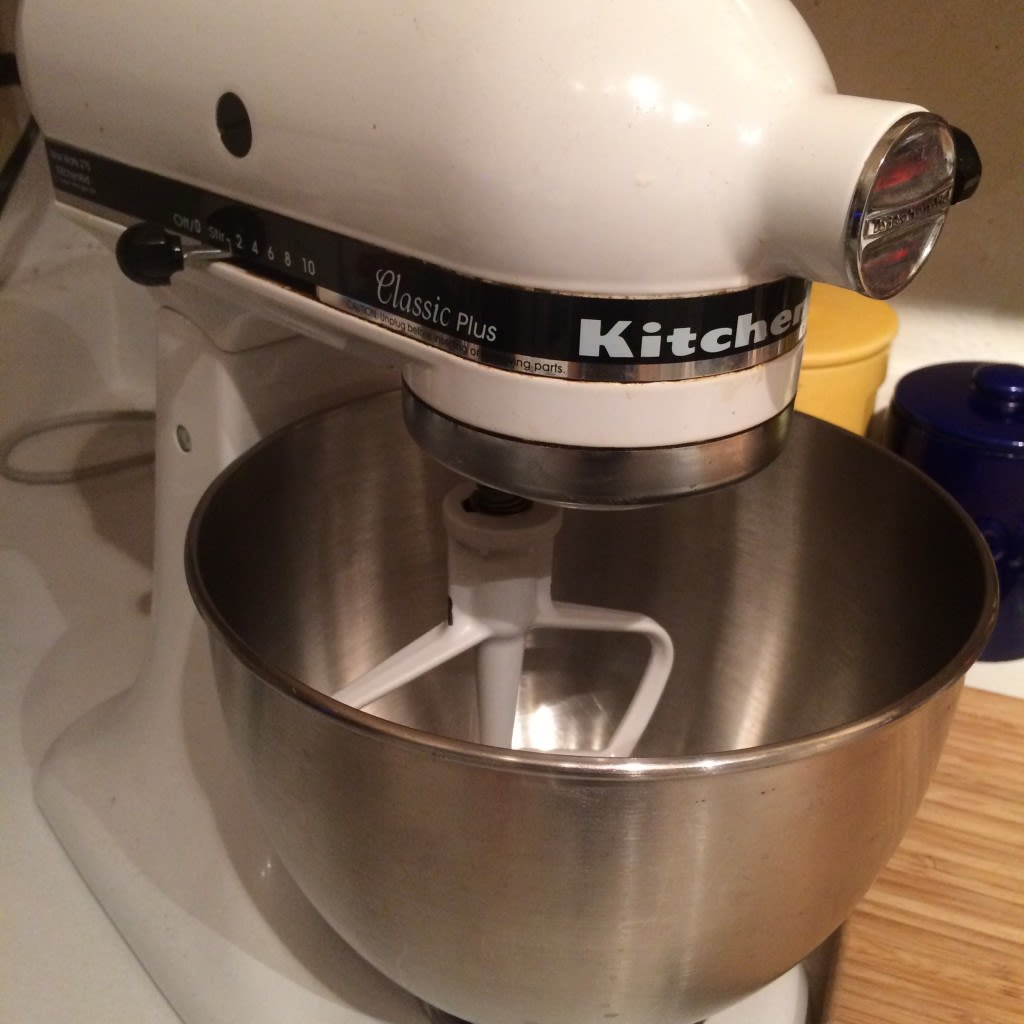 I remember using a hand-mixer in my pre-KitchenAiddays and Inever could whip up dough this quickly and easily. Plus, these things last forever!