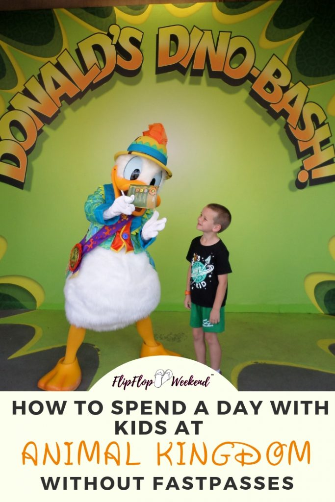 If you find yourself at Walt Disney World's Animal Kingdom with kids and without FastPasses, there are still plenty of attractions to try! Check out these tips and ideas on how to still have a wild day! #WDW #DisneyParks #FlipFlopWeekend