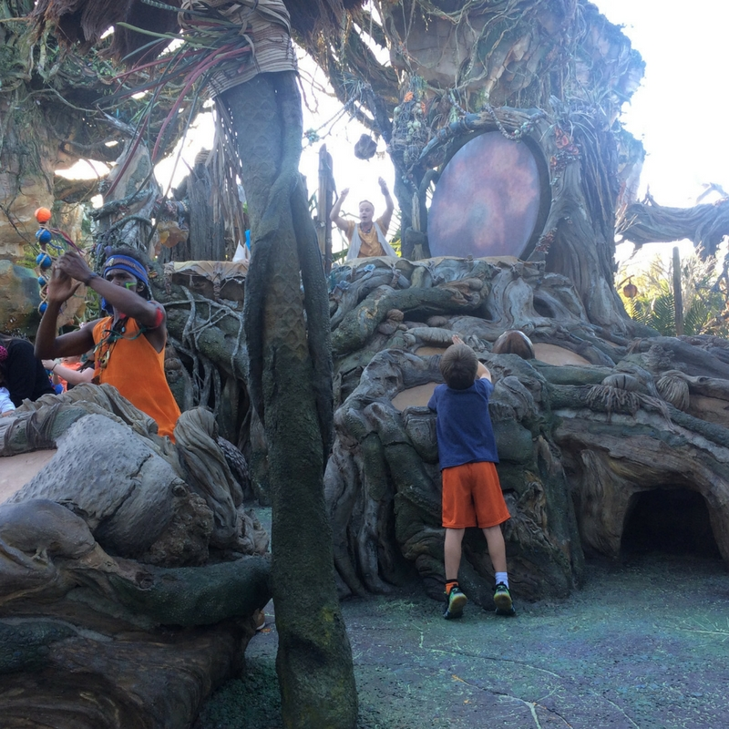 The Drum Ceremony is fun to experience at Pandora in Disney's Animal Kingdom