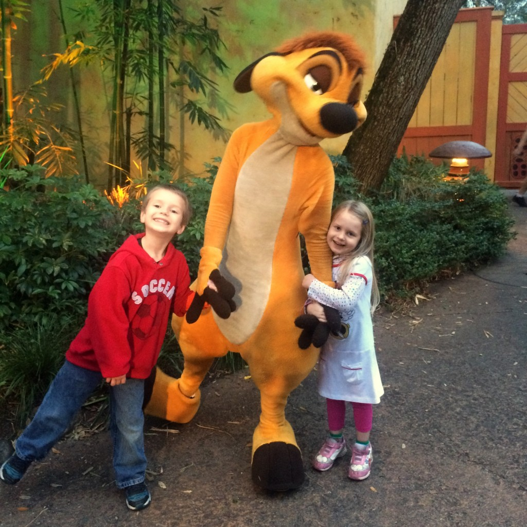 Meeting Characters at the Animal Kingdom is a great way to spend time at Walt Disney World's Animal Kingdom with Kids, no FastPass required.