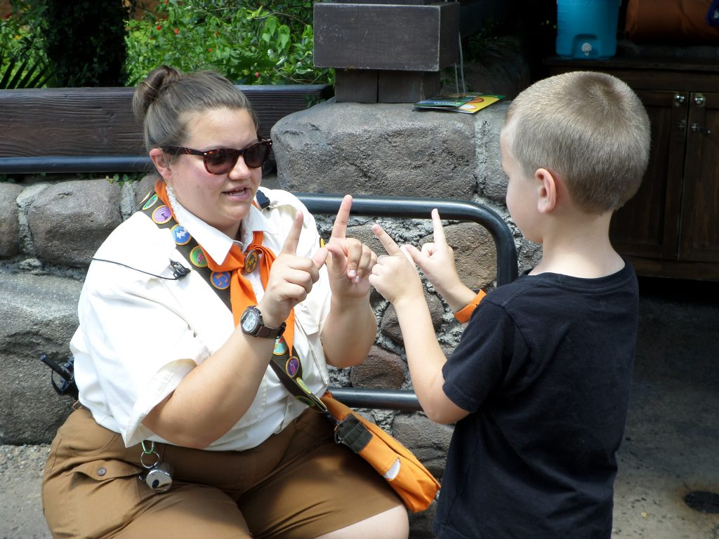 The Wilderness Explorers is a great free, interactive activity for kids at Animal Kingdom, Walt Disney World.