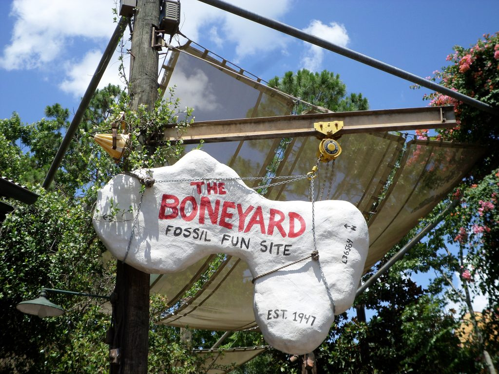 The Boneyard is a fun spot for kids to rest and relax at Walt Disney World's Animal Kingdom