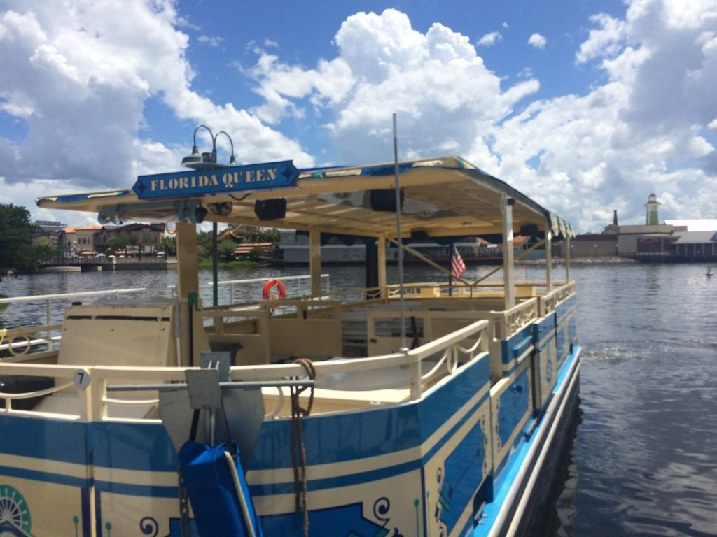 The Disney Springs Water Taxi is a completely free way to enjoy and affordable day at Disney Springs