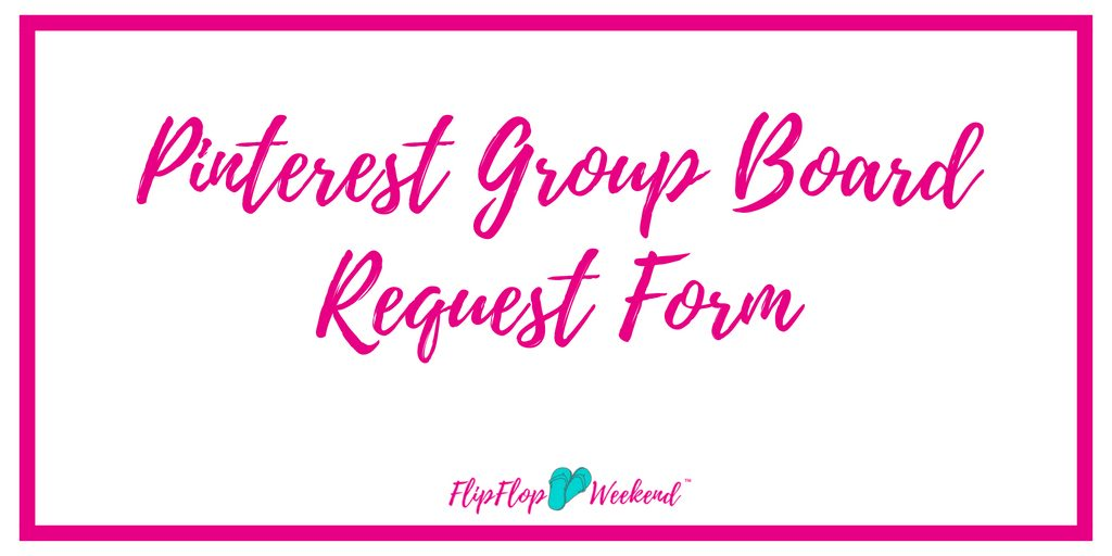 Pinterest group boards are essential to growing a blog. Beginning bloggers should learn Pinterest and use it to drive traffic to their site. This form will help you request to join my Pinterest group boards to help you grow your traffic.