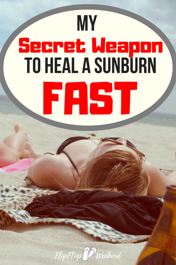 """If you need to heal a sunburn fast and find relief, here is my """"go-to"""" sunburn treatments that helps ease the pain and discomfort every time."""