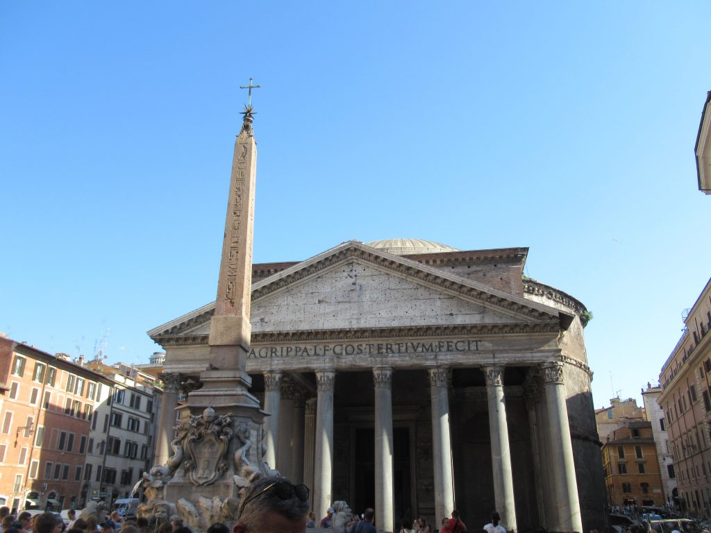 The Pantheon in Rome is still a marvel, as after 2000 years and built before modern building technology, it is still the world's largest unreinforced concrete dome.