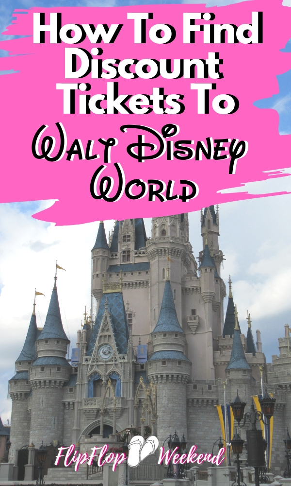 Disney Tickets are not cheap and seem to be increasing every year. This post features some tips on how to get some discounts on your Disney World tickets to help maximize your Disney vacation budget. #flipflopweekend