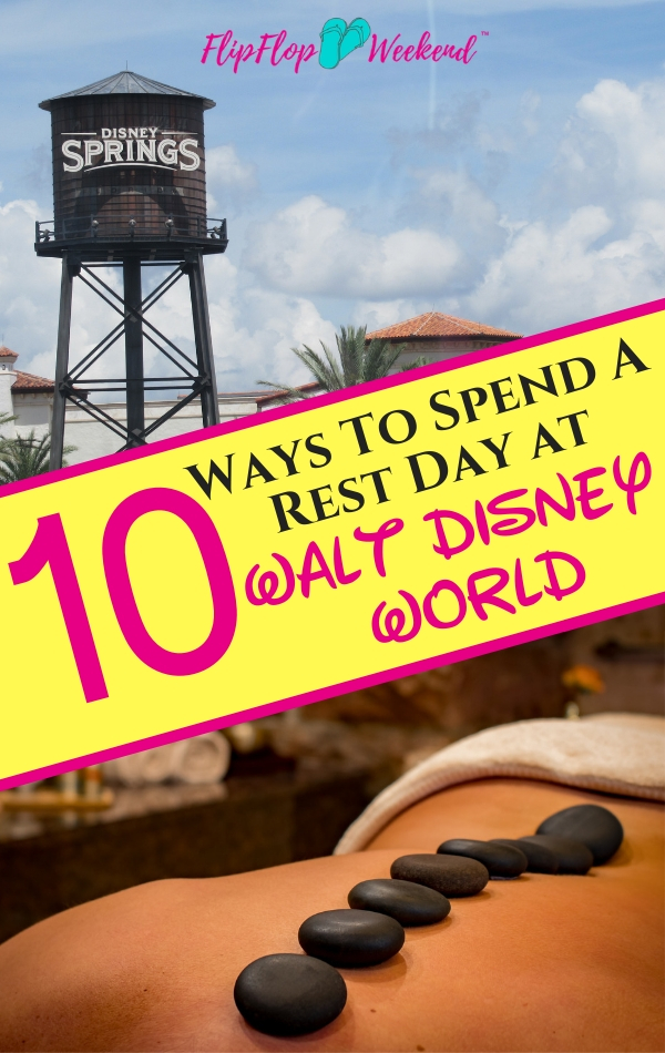 A family vacation to Walt Disney World can be exhausting. Make sure you plan a day to rest and relax in between visiting the theme parks. Check out this list of things to do outside of the Walt Disney World theme parks to help you have fun on your rest day at Walt Disney World.
