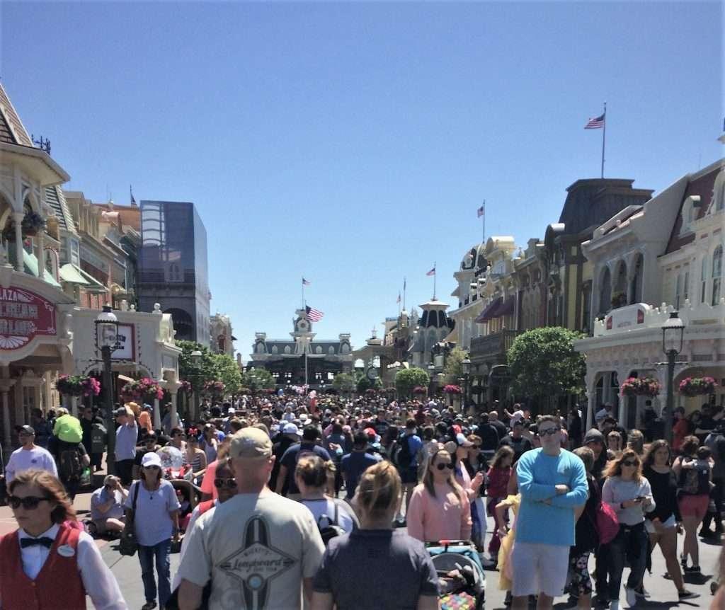 Crowds at Walt Disney World