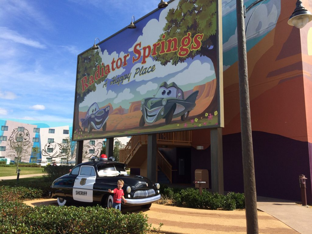 Resort hopping is a great way to spend a rest day at Walt Disney World. The Art of Animation resort is a great place for photo ops.
