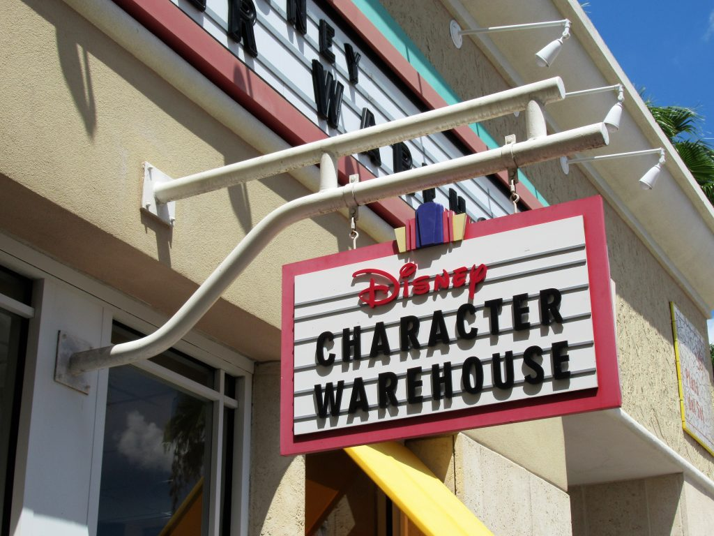 The Disney Character Warehouse at the Orlando Premium Outlets is a great way to score some great deals on your Disney souvenirs.