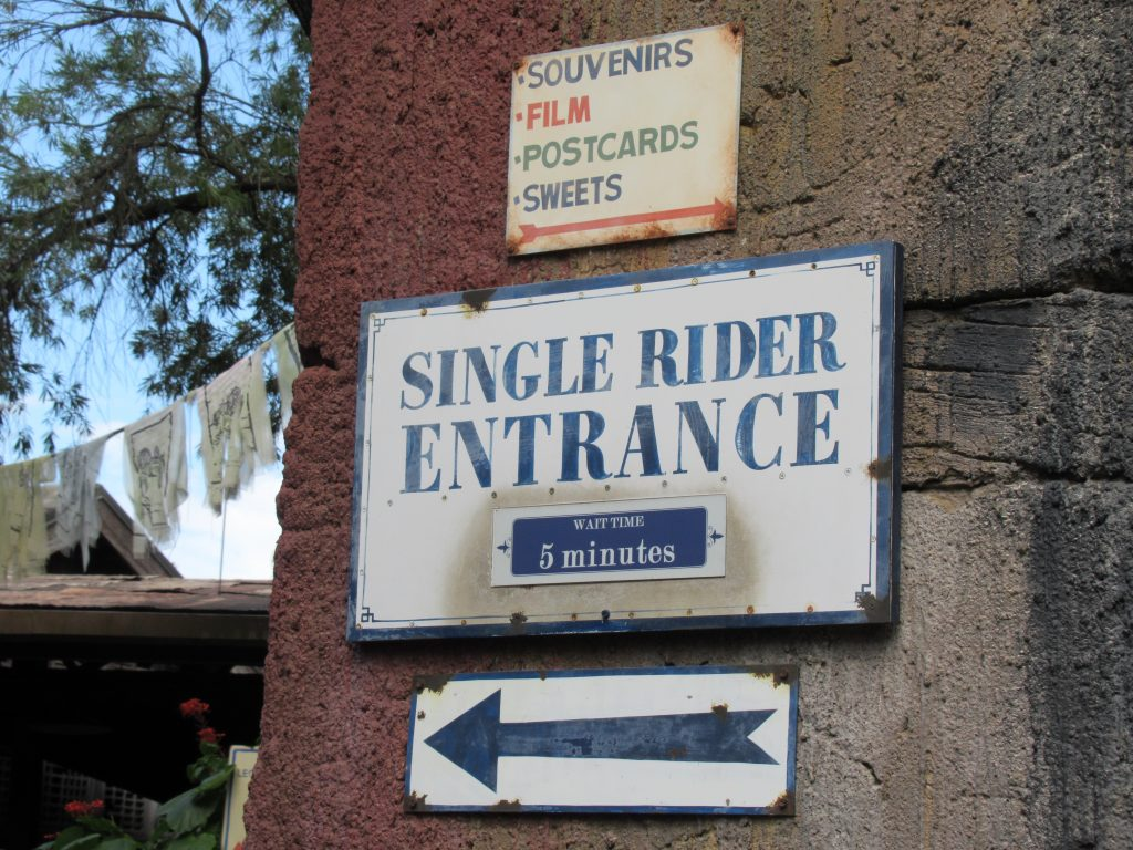 If you are short on time or the only thrill-seeker in your family, the single rider line can be a great way to save time and a FastPass+