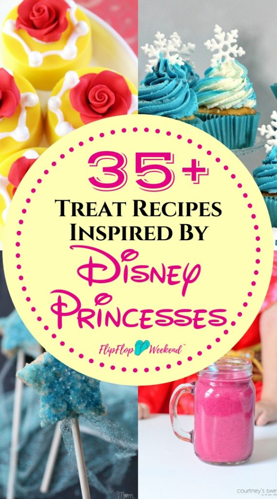 Make any princess themed party extra magical with this collection of easy, DIY Disney Princess recipes and treat ideas.