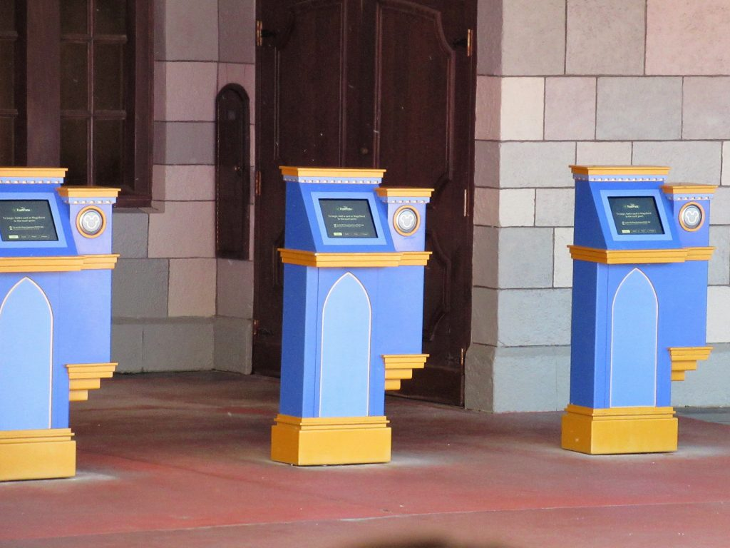 After using their three FastPasses, guests can reserve additional FastPasses one at a time through the My Disney Experience app or a FastPass kiosk, which are distributed throughout the Disney Parks.