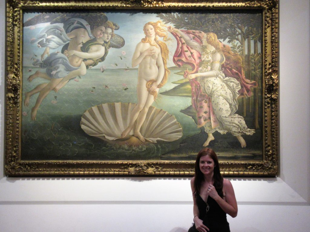 I haven't quite figured out how to pose in front of a piece of art depicting a nude woman being birthed from a seashell, but it is still an amazing piece and one of many that makes the Uffizi Gallery a worthwhile stop during your time in Florence.