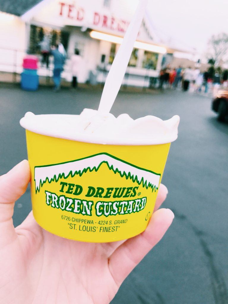 Ted Drewe's Frozen Custard is an ice cream lover's haven in St. Louis, Missouri. PC. Emily Ferrario