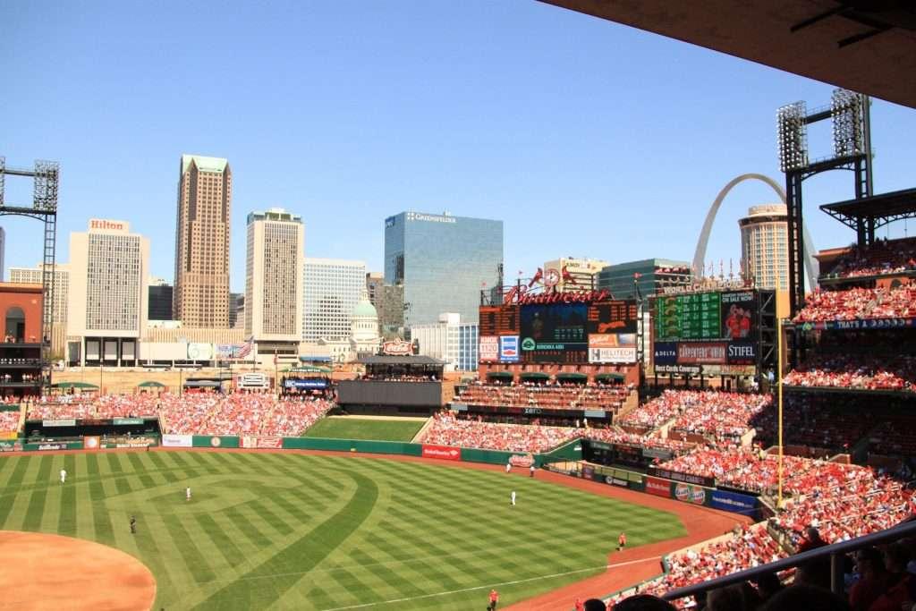 Catch a St. Louis Cardinals game at Busch Stadium.