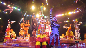 """Featuring fire dancing, and acrobats...plus the key numbers """" Hakuna Matata"""" and """" Can You Feel The Love Tonight,"""" the Festival of The Lion King at Disney's Animal Kingdom is a fun show for family members of all ages!"""
